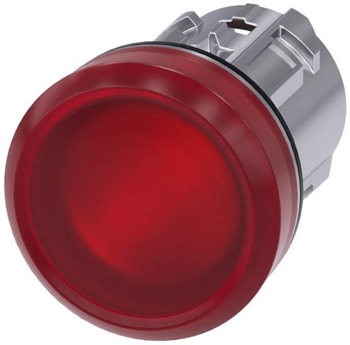 Signalizační světlo Siemens 3SU1051-6AA20-0AA0, plochý, červená, 1 ks