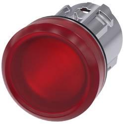Světelný hlásič Siemens 3SU1051-6AA20-0AA0, plochý, červená, 1 ks