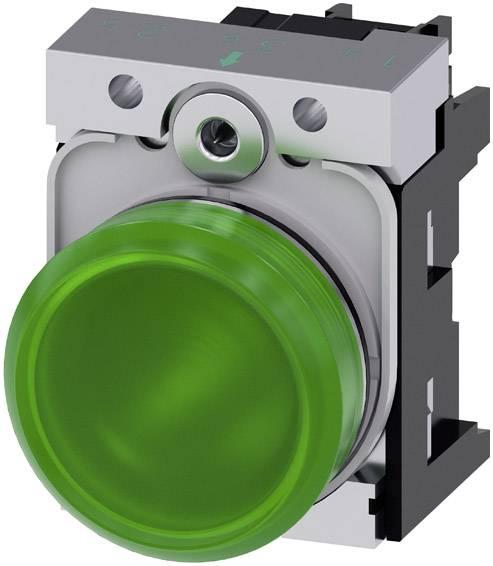 Signalizační světlo Siemens 3SU1156-6AA40-1AA0, Vysoký lesk , 230 V/AC, zelená, 1 ks