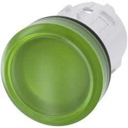 Světelný hlásič Siemens 3SU1001-6AA40-0AA0, plochý, zelená, 1 ks