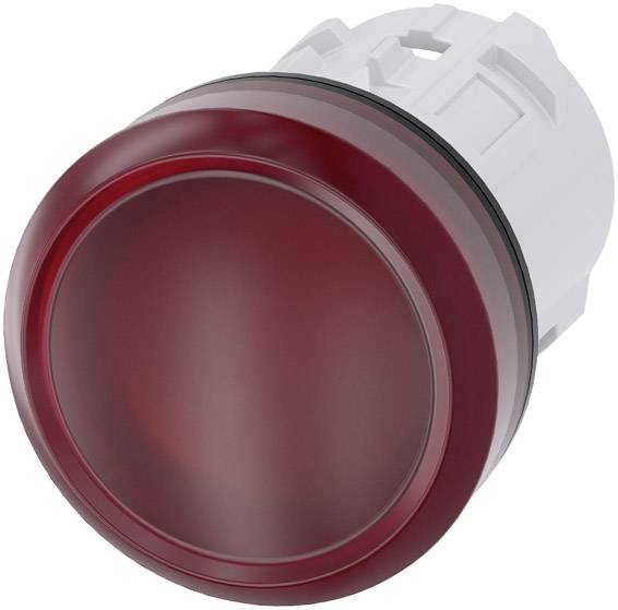 Světelný hlásič Siemens 3SU1001-6AA20-0AA0, plochý, červená, 1 ks