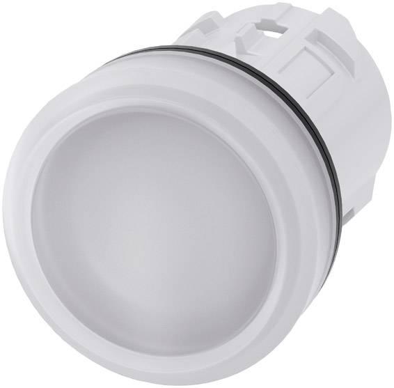 Světelný hlásič Siemens 3SU1001-6AA60-0AA0, plochý, bílá, 1 ks