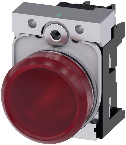 Světelný hlásič Siemens 3SU1152-6AA20-1AA0, Vysoký lesk , 24 V/AC, 24 V/DC, červená, 1 ks