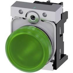 Světelný hlásič Siemens 3SU1152-6AA40-1AA0, Vysoký lesk , 24 V/AC, 24 V/DC, zelená, 1 ks