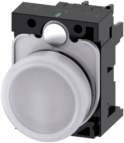 Světelný hlásič Siemens 3SU1102-6AA60-1AA0, plochý, 24 V/AC, 24 V/DC, bílá, 1 ks