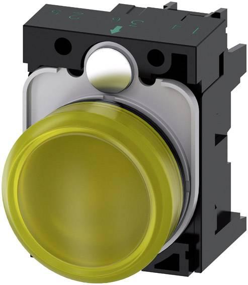 Světelný hlásič Siemens 3SU1102-6AA30-1AA0, plochý, 24 V/AC, 24 V/DC, žlutá, 1 ks