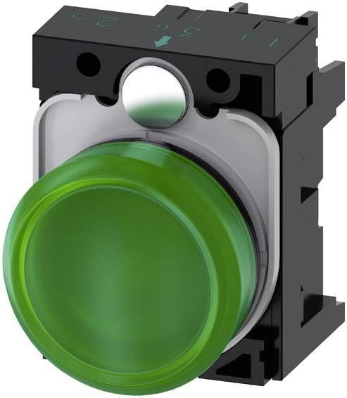Světelný hlásič Siemens 3SU1102-6AA40-1AA0, plochý, 24 V/AC, 24 V/DC, zelená, 1 ks
