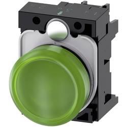 Světelný hlásič Siemens 3SU1106-6AA40-1AA0, plochý, 230 V/AC, zelená, 1 ks