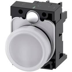 Světelný hlásič Siemens 3SU1106-6AA60-1AA0, plochý, 230 V/AC, bílá, 1 ks