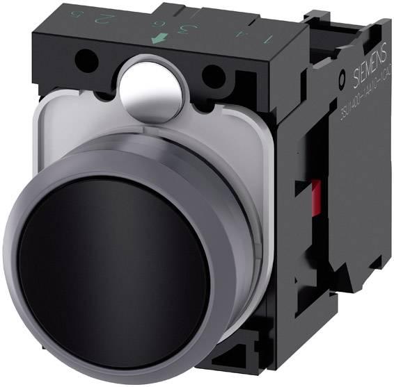 Tlačítko Siemens SIRIUS ACT 3SU1130-0AB10-1CA0, černá, 1 ks
