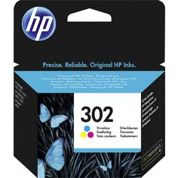 HP Inkoustová kazeta 302 originál azurová, purppurová, žlutá F6U65AE