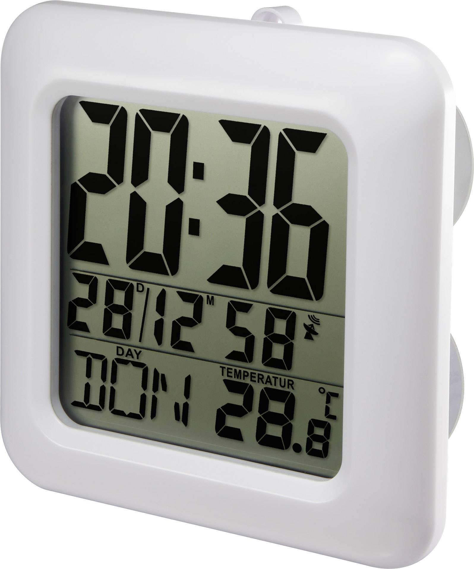 DCF nástěnné hodiny Renkforce E0006R, 168 mm x 168 mm x 60 mm, bílá