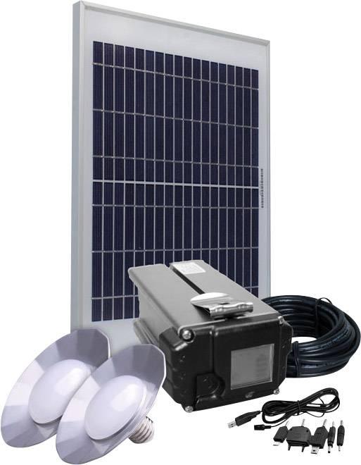 Solární sada osvětlení Phaesun Energy Comfort Solar Side One 390956, 10 Wp, vč. akumulátoru, vč. kabelu, s 2 světly
