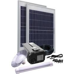 Solární sada osvětlení Phaesun Energy Comfort Solar Side Two 390957, 20 Wp, vč. akumulátoru, vč. kabelu, s 2 světly