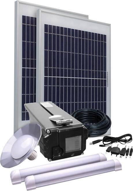 Solárna sada Phaesun Energy Comfort Solar Side Three 390958, 30 Wp, vr. akumulátora, vr. kábla, s 3 svetlami