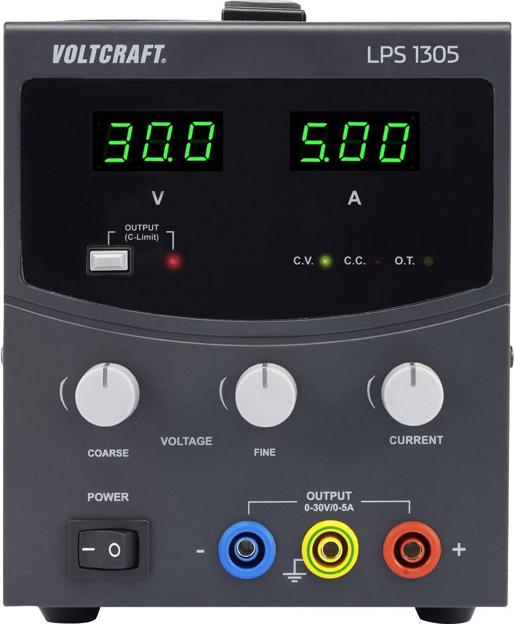 Laboratórny napájací zdroj Voltcraft LPS1305, 0 - 30 V / DC, 5 A, 150 W