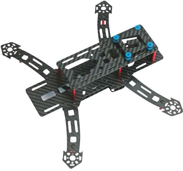 Závodní dron Graupner Alpha 250 Q Race, stavebnice, FPV Race, profi, pohled z kabiny pilota