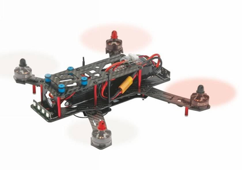 Závodní dron Graupner ALPHA 250Q RACE mit GR-18, RTB, FPV Race, pohled z kabiny pilota, profi