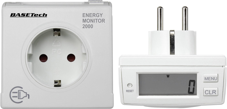 Měřič spotřeby el. energie energie a výkonu Basetech EM 2000, sada 2 ks