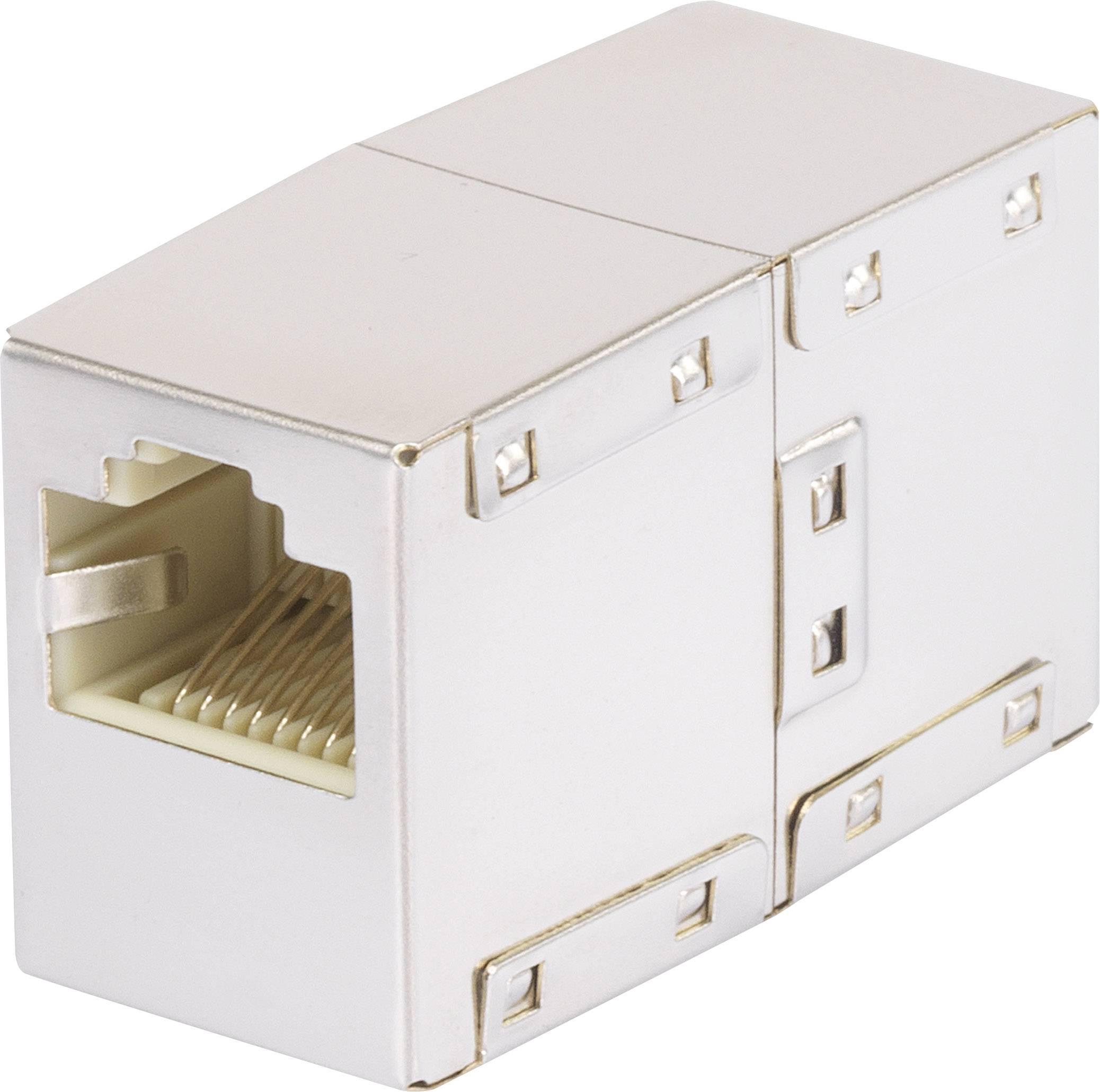 RJ45 sieťový adaptér Renkforce RF-4145361 CAT 5e, [1x RJ45 zásvuka - 1x RJ45 zásvuka], biela