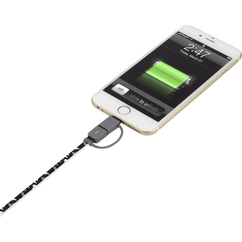 usb kabel pro iphone ipod ipad usb 2 0 1x microusb apple lightning 0 2 m. Black Bedroom Furniture Sets. Home Design Ideas