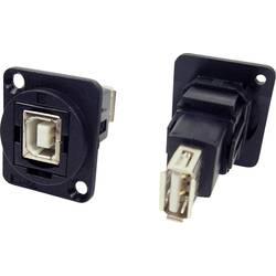 Zásuvka USB 2.0 typ B adaptér, vstavateľný Cliff CP30207N CP30207N, čierna, 1 ks