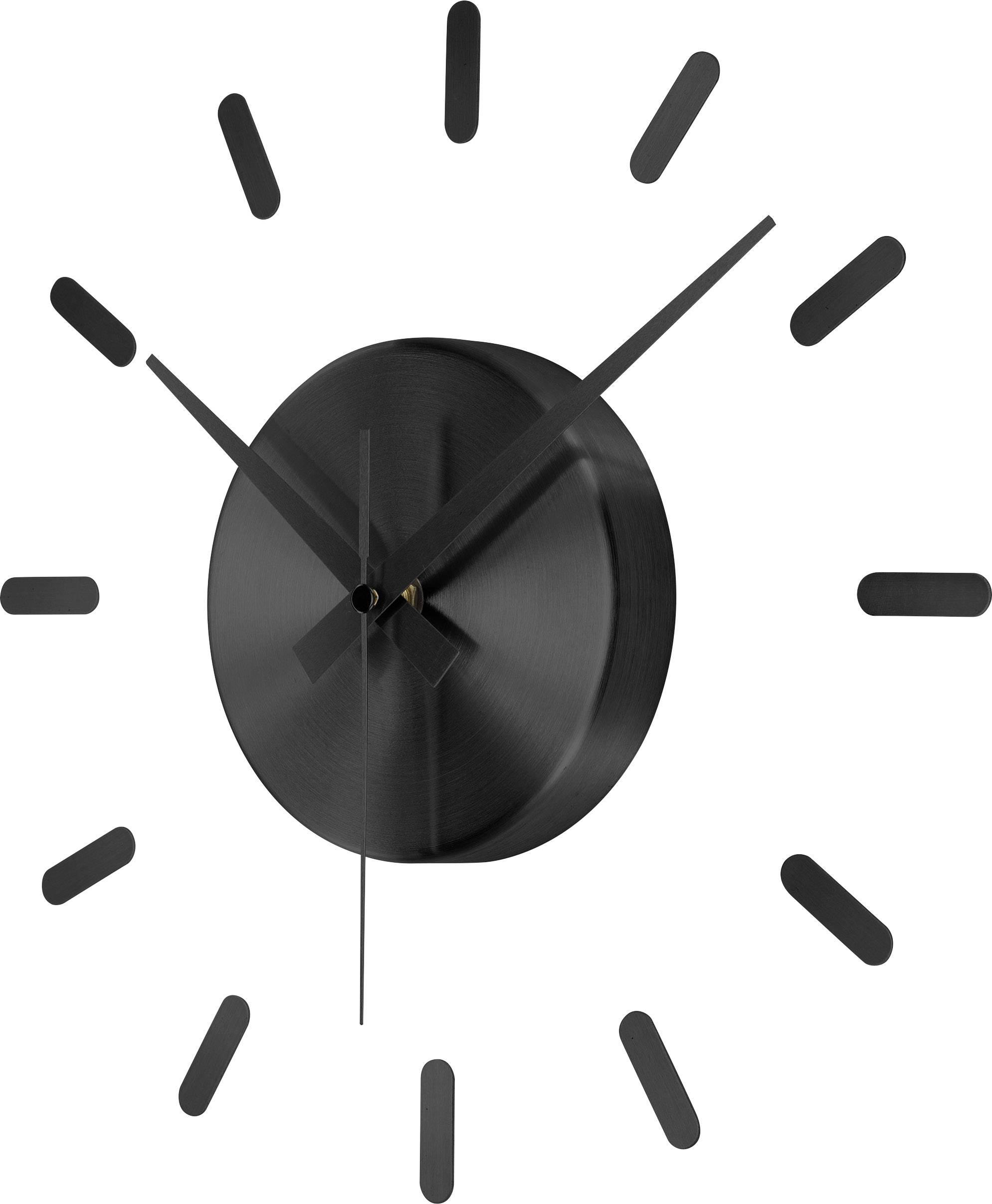 Nástěnné hodiny Quartz Renkforce HD-W152 SW (Ø) 350 mm černé