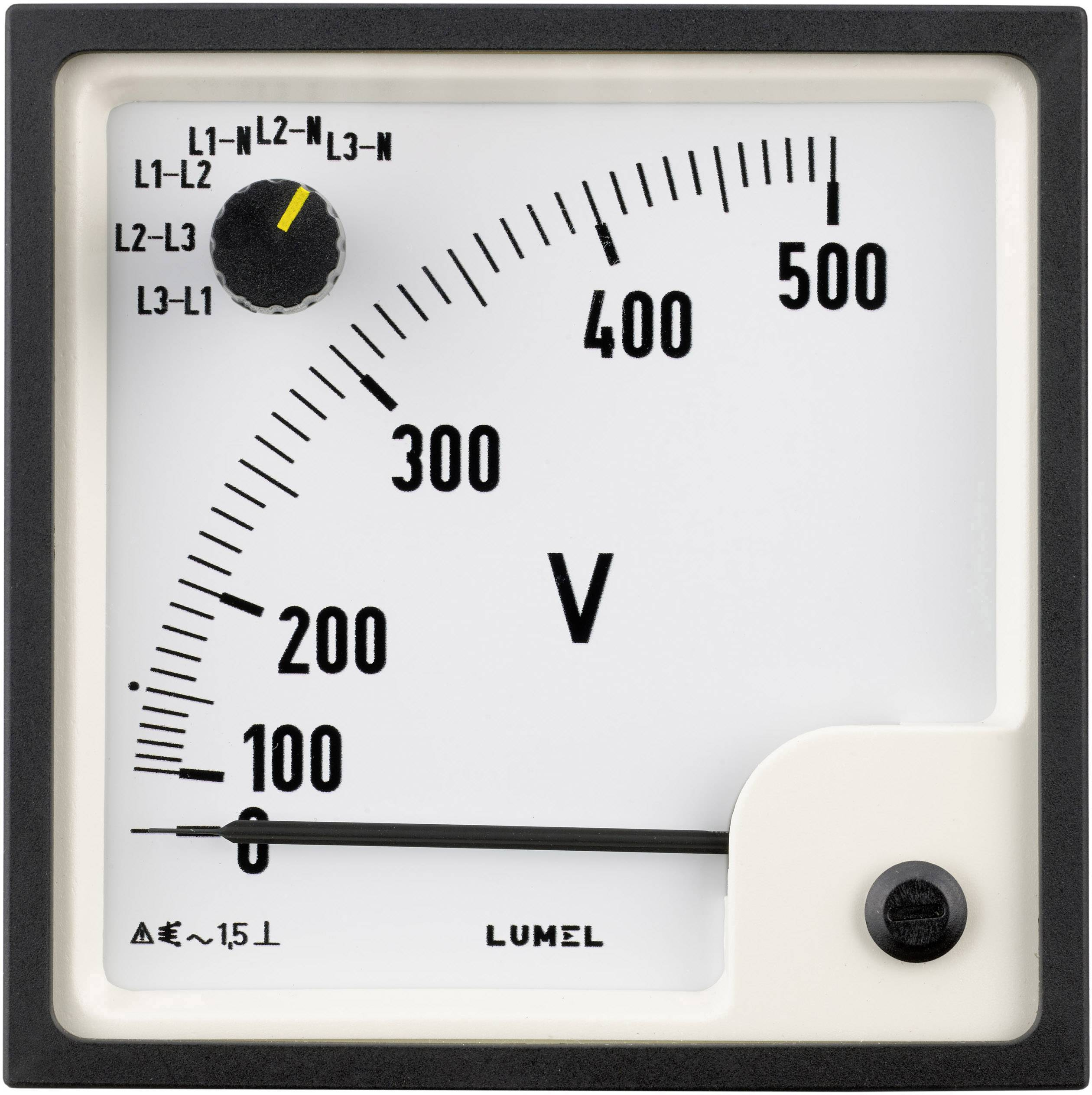 Panelové analógové meradlo Lumel EP29 500V