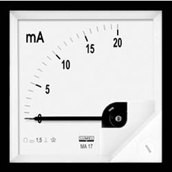 Panelové analógové meradlo Lumel MA17 50A/60mV
