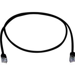 Sieťový prepojovací kábel RJ45 Telegärtner L00000A0310, CAT 5e, F/UTP, 25.00 cm, čierna