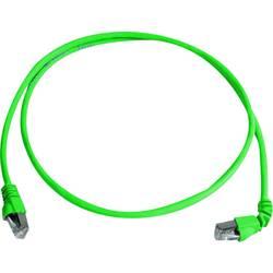 Sieťový prepojovací kábel RJ45 Telegärtner L00001A0156, CAT 6A, S/FTP, 2.00 m, zelená