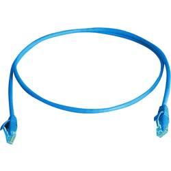 Sieťový prepojovací kábel RJ45 Telegärtner L00000A0292, CAT 6, U/UTP, 0.50 m, modrá