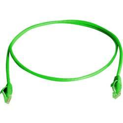 Sieťový prepojovací kábel RJ45 Telegärtner L00000A0288, CAT 6, U/UTP, 0.50 m, zelená