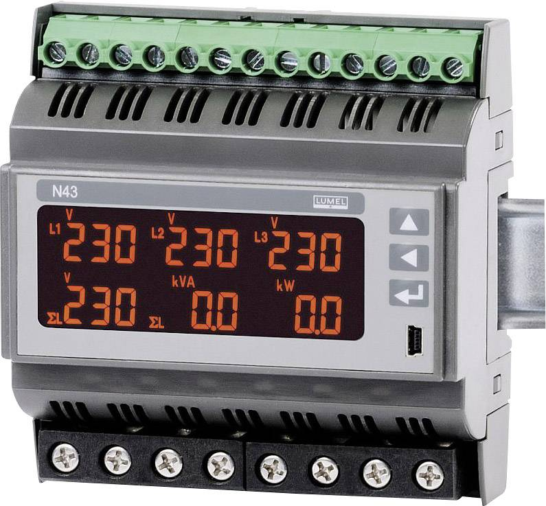 Digitálny multimeter na DIN lištu Lumel N43 12100E0