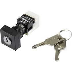 Kľúčový spínač DECA ADA16K6-AA0-CH 1384381, 250 V/AC, 5 A, 1x zap/vyp/zap, 2 x 90 °, IP65, 1 ks