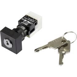 Kľúčový spínač DECA ADA16K6-AA0-DC 1384382, 250 V/AC, 5 A, 1x vyp/zap, 1 x 90 °, IP65, 1 ks