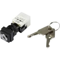 Kľúčový spínač DECA ADA16K6-AS0-DF 1384384, 250 V/AC, 5 A, 1x vyp/zap, 1 x 90 °, IP65, 1 ks