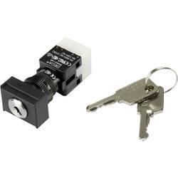 Kľúčový spínač DECA ADA16K6-AT0-CG 1384386, 250 V/AC, 5 A, 1x vyp/zap, 1 x 90 °, IP65, 1 ks