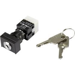 Klíčový spínač DECA ADA16K6-AT0-DG 1384388, 250 V/AC, 5 A, 1x vyp/zap, 1 x 90 °, IP65, 1 ks