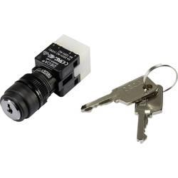 Kľúčový spínač DECA ADA16K6-AR0-CH 1384389, 250 V/AC, 5 A, 1x zap/vyp/zap, 2 x 90 °, IP65, 1 ks