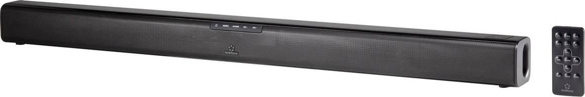 Soundbar Renkforce TB230 Bluetooth®, NFC, upevnenie na stenu, čierna