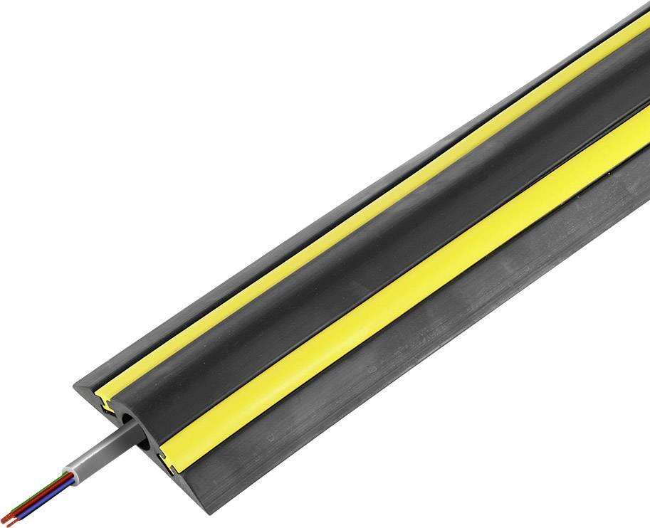 Kabelový můstek Vulcascot VUS-064, (d x š x v) 4500 x 130 x 30 mm, černá, 1 ks