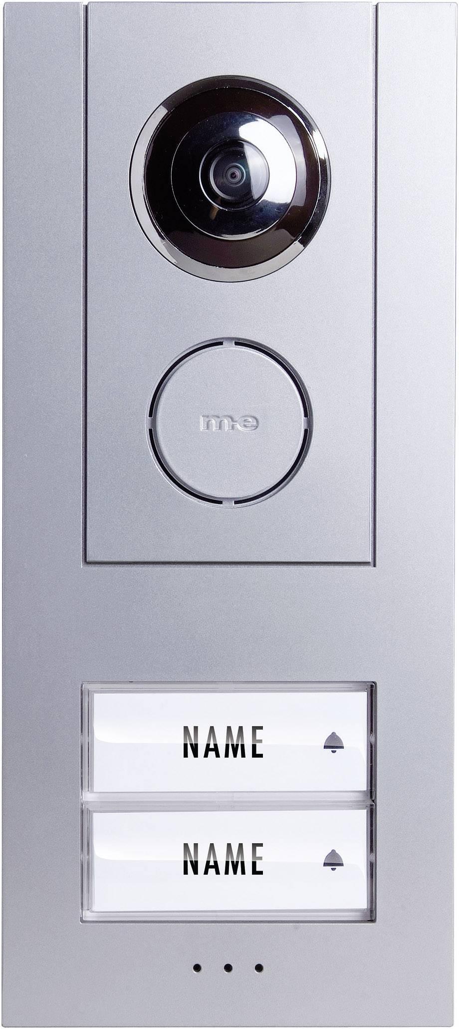Káblový video dverový telefón m-e modern-electronics VISTUS VD ALU 620, vonkajšia jednotka, strieborná
