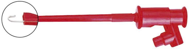 Měřicí háček Voltcraft R8-16C, červená