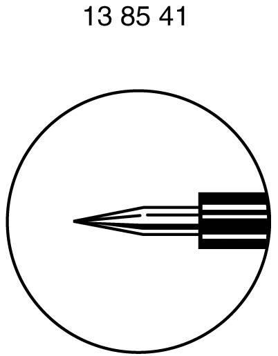 Zkušební hrot Hirschmann, 1 A, černá