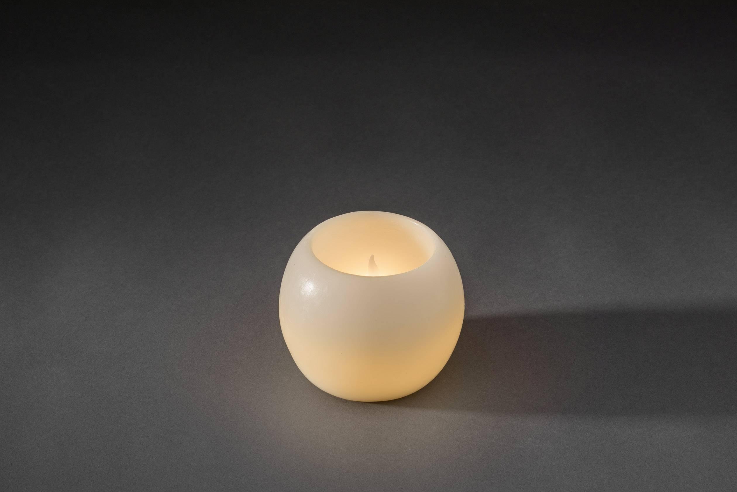 LED vosková svíčka bílá Konstsmide 1964-100 teplá bílá