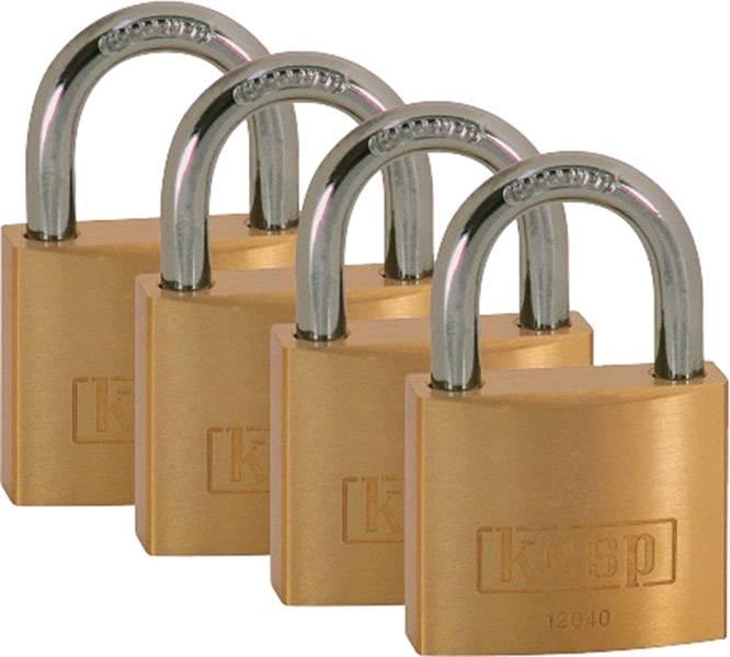 Visací zámek na klíč Kasp K12040D4, 40 mm, zlatožlutá