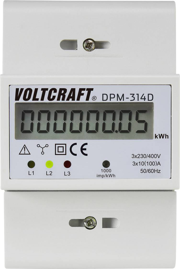 Digitální třífázový elektroměr 100 A VOLTCRAFT;DPM-314DDPM-314D