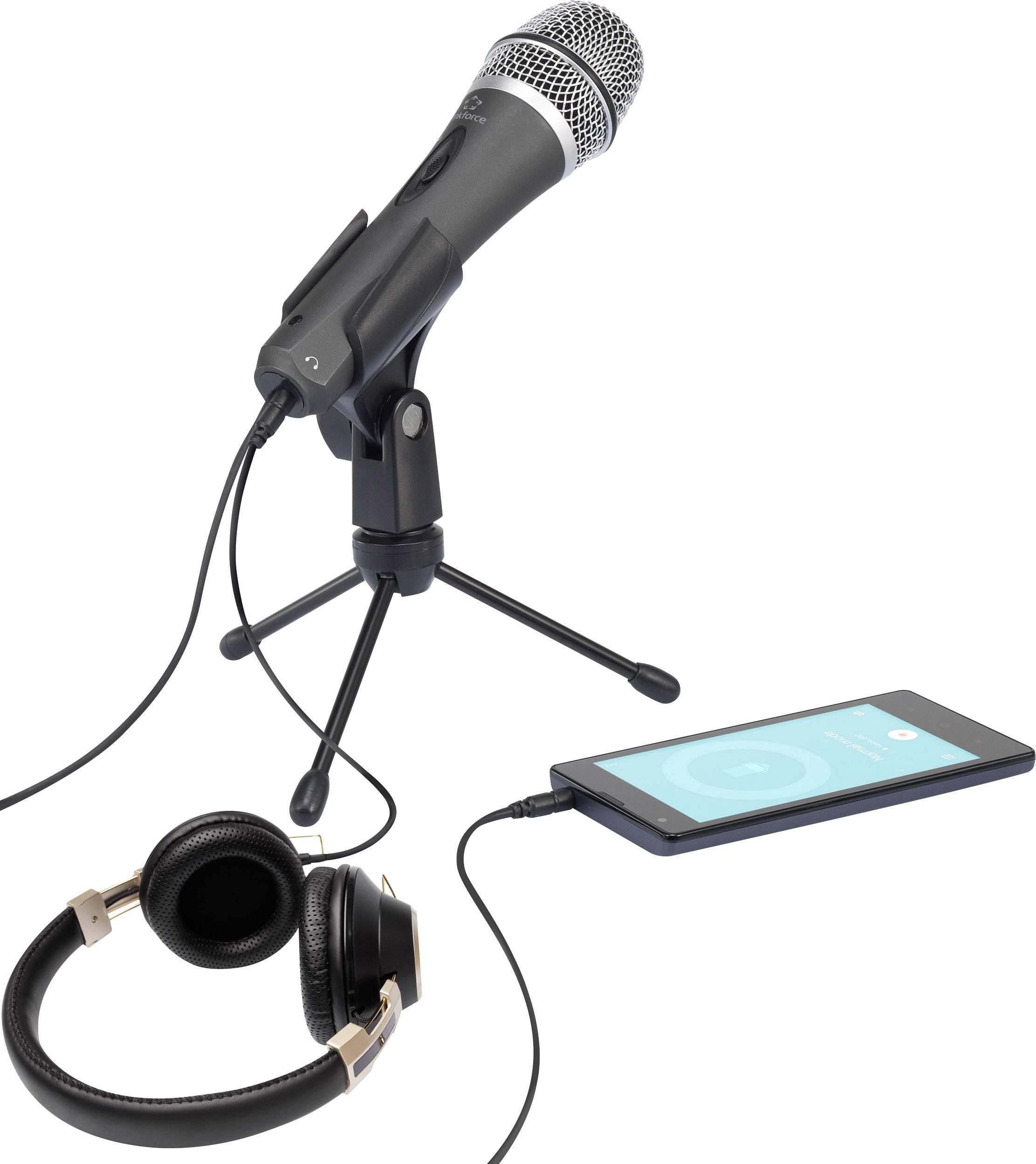 Mikrofón k PC Renkforce káblový, vr. svorky, spínač