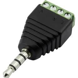 Jack konektor 3.5 mm TRU COMPONENTS 1386615 93013c1119 zástrčka, rovná, pólů 4, černá, 1 ks, stereo
